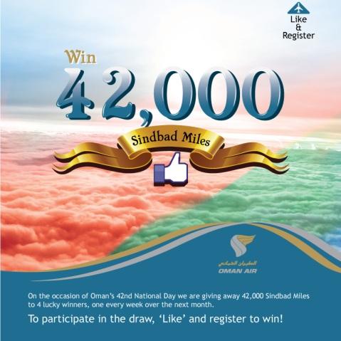 Win 42,000 Sindbad Miles